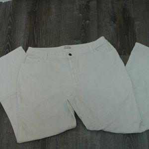 St. John's Bay Corduroy Trousers Cream Colored